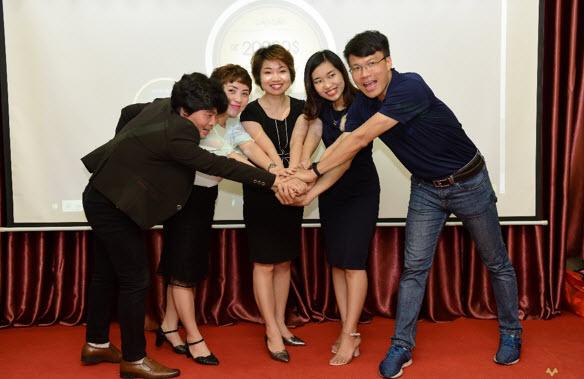 """Các nhân sự tại VPĐD Meey Land tại Nam Định cam kết mạnh mẽ giúp khách hàng """"Cùng nhau khai thác giá trị"""""""