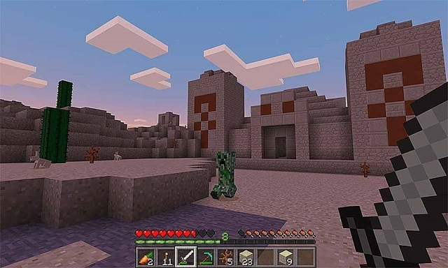 Minecraft PE – Dòng game sinh tồn