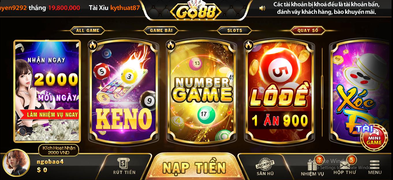 Vô số trò chơi đánh bài hấp dẫn đang chờ đợi bạn tại Go88 club
