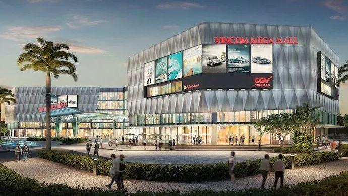 Vincom Mega Mall Vinhomes Grand Park Quận 9 có quy mô lớn